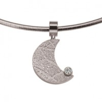 Moon zirconia oro bianco/bianco