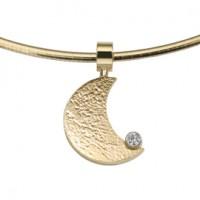 Moon zirconia oro giallo/giallo