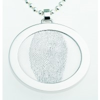 Coin L argento 35 mm con occhiello