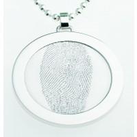 Coin S argento 25 mm con occhiello
